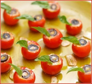 Crab Stuffed Cherry Tomatoes